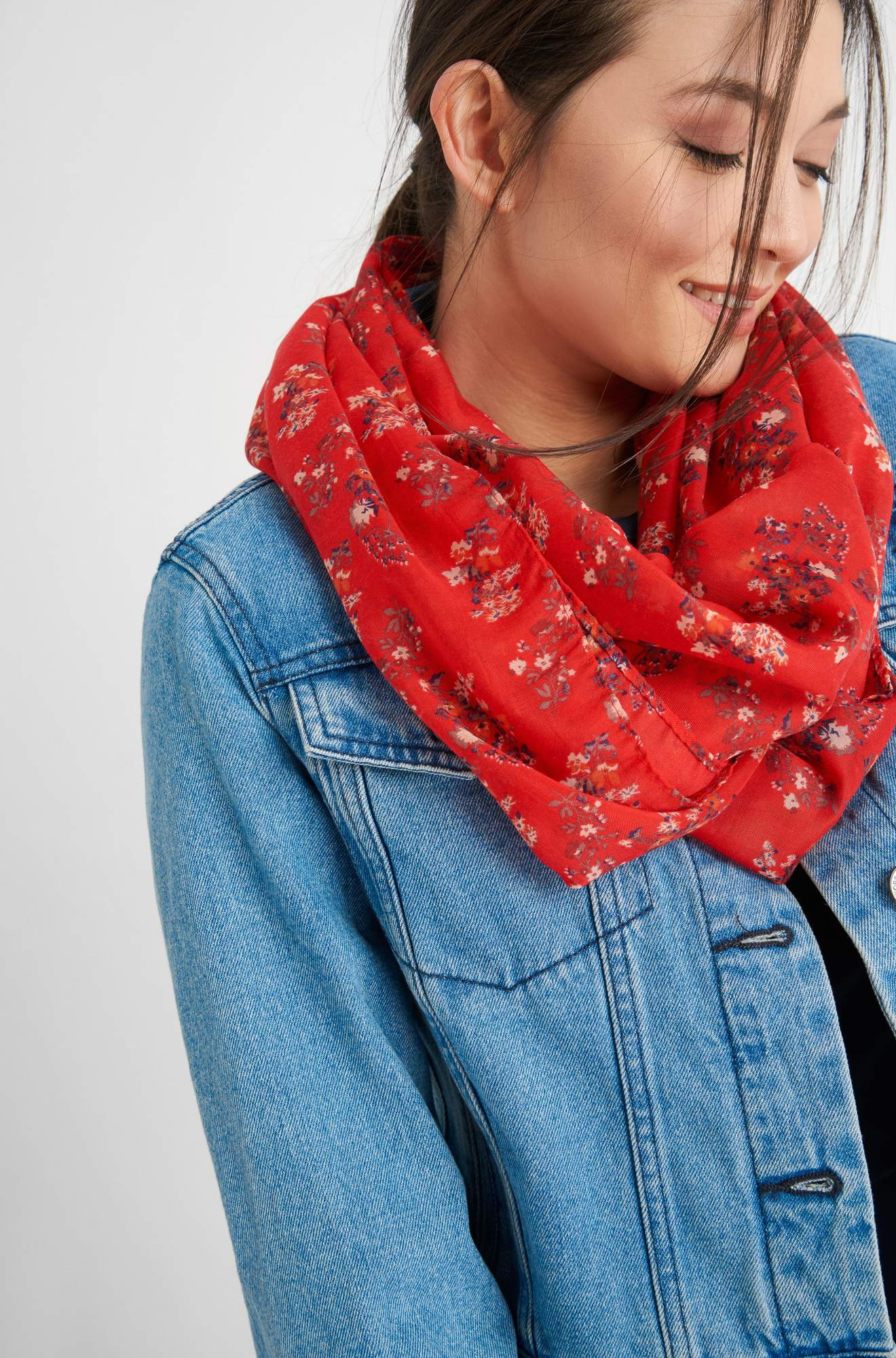 Loop-Schal mit Flower-Print