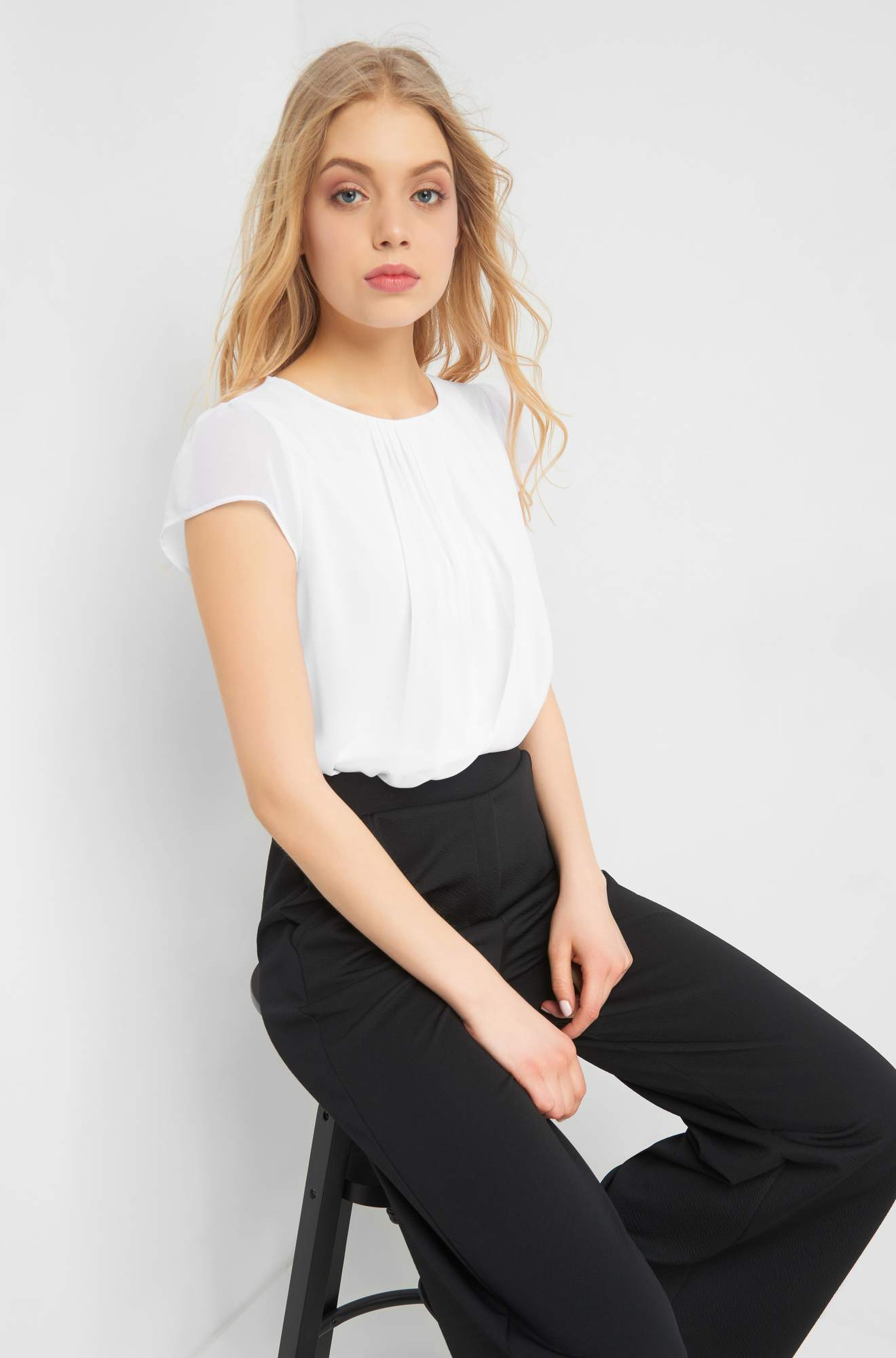 Bluse im Layer Look