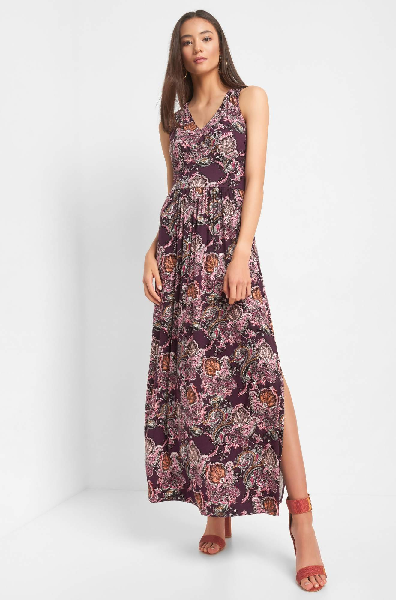 Maxikleid mit Paisley Muster